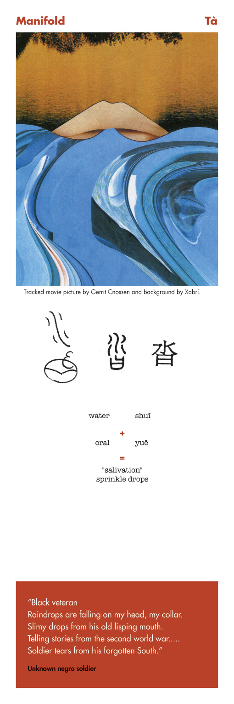 Chinese character manifold - ta