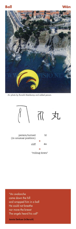 Chinese character ball - wan