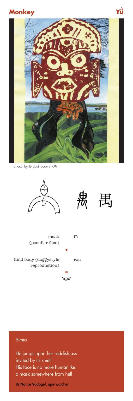 Monkey - Yu Chinese character