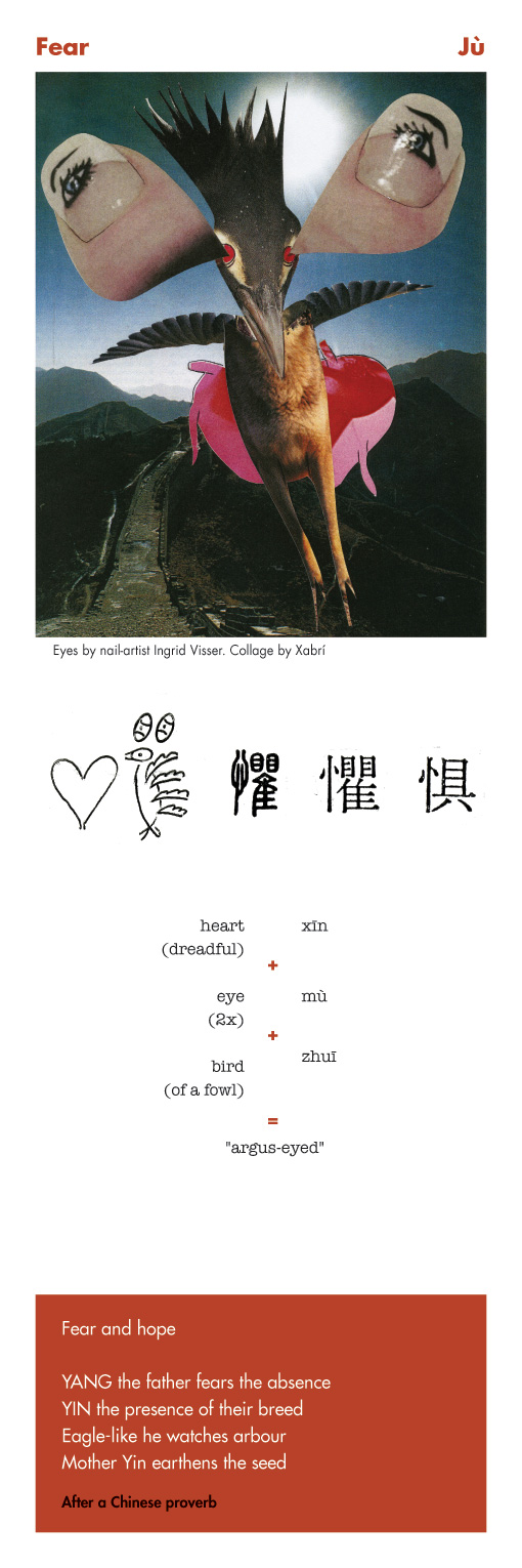 Chinese character Fear - Ju