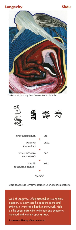 Chinese character longevity - shou