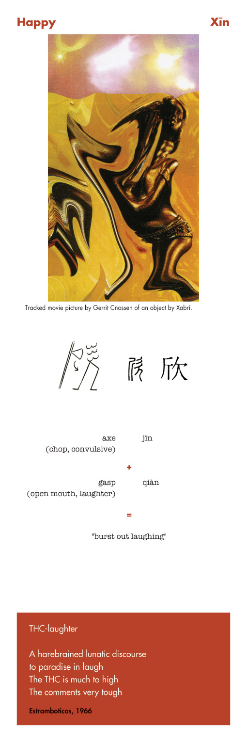 Chinese character Happy -Xin