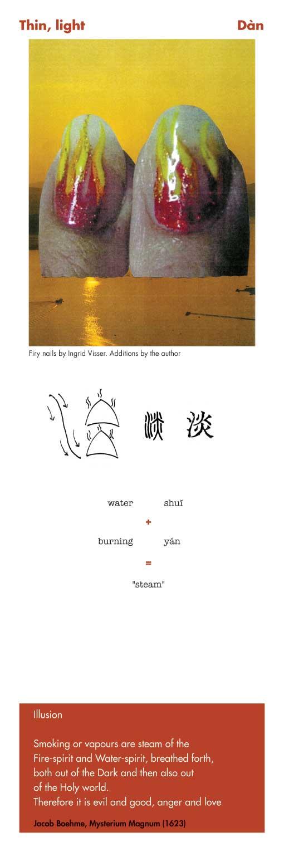 Chinese character thin light - dan