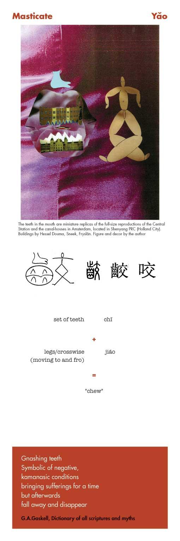 Chinese character Masticate Yao