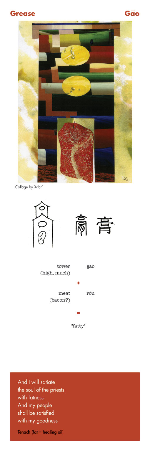 Chinese character Grease - Gao