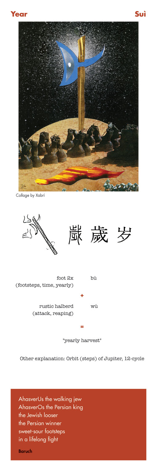 Chinese character year - sui