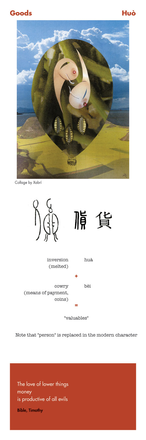 Chinese character Goods - Huo