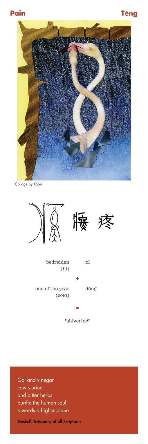 Chinese character Pain
